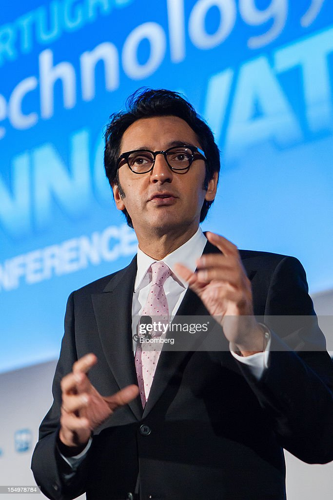 Zeinal Bava, chief executive officer of Portugal Telecom SGPS, gestures while speaking to the media during a news conference at the Technology and Innovation conference in Lisbon, Portugal, on Monday, Oct. 29, 2012. 'We believe prices in our domestic market are already low enough,' Bava said. Photographer: Mario Proenca/Bloomberg via Getty Images