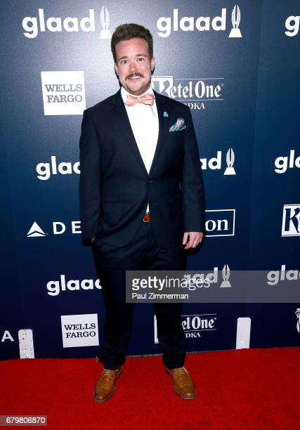 Zeke Smith attends the 28th Annual GLAAD Awards at New York Hilton Midtown on May 6 2017 in New York City
