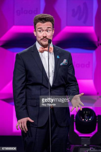 Zeke Smith on stage during the 28th Annual GLAAD Awards at New York Hilton Midtown on May 6 2017 in New York City