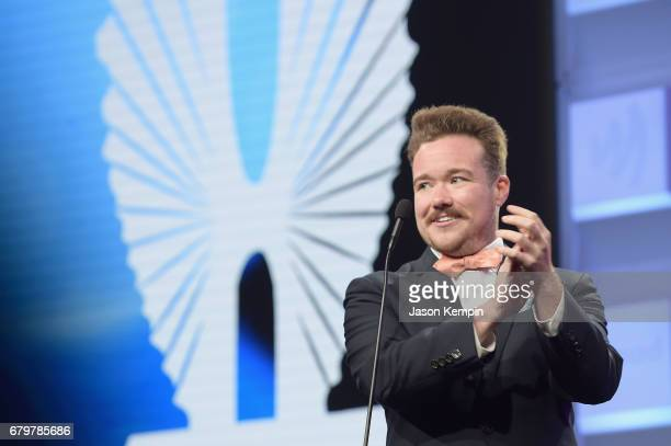 Zeke Smith presents an award at the 28th Annual GLAAD Media Awards at The Hilton Midtown on May 6 2017 in New York City