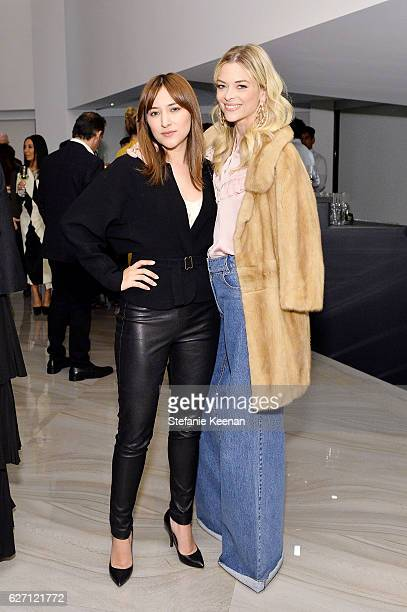 Zelda Williams and Jaime King attend NETAPORTER New Designers Cocktail on December 1 2016 in Los Angeles California