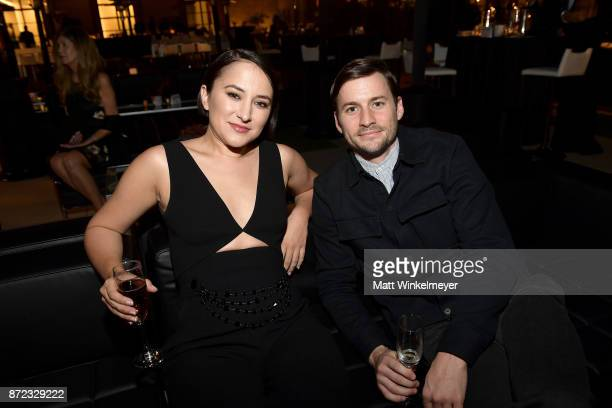 Zelda Williams and Joshua Thurston attend the SAGAFTRA Foundation Patron of the Artists Awards 2017 at the Wallis Annenberg Center for the Performing...