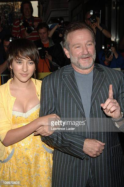 Zelda Williams and Robin Williams during House of D New York Premiere at Loews Lincoln Square in New York City New York United States