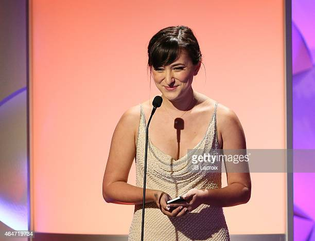 Zelda Williams is seen on stage during the 3rd Annual Noble Awards held at the Beverly Hilton Hotel on February 27 2015 in Beverly Hills California