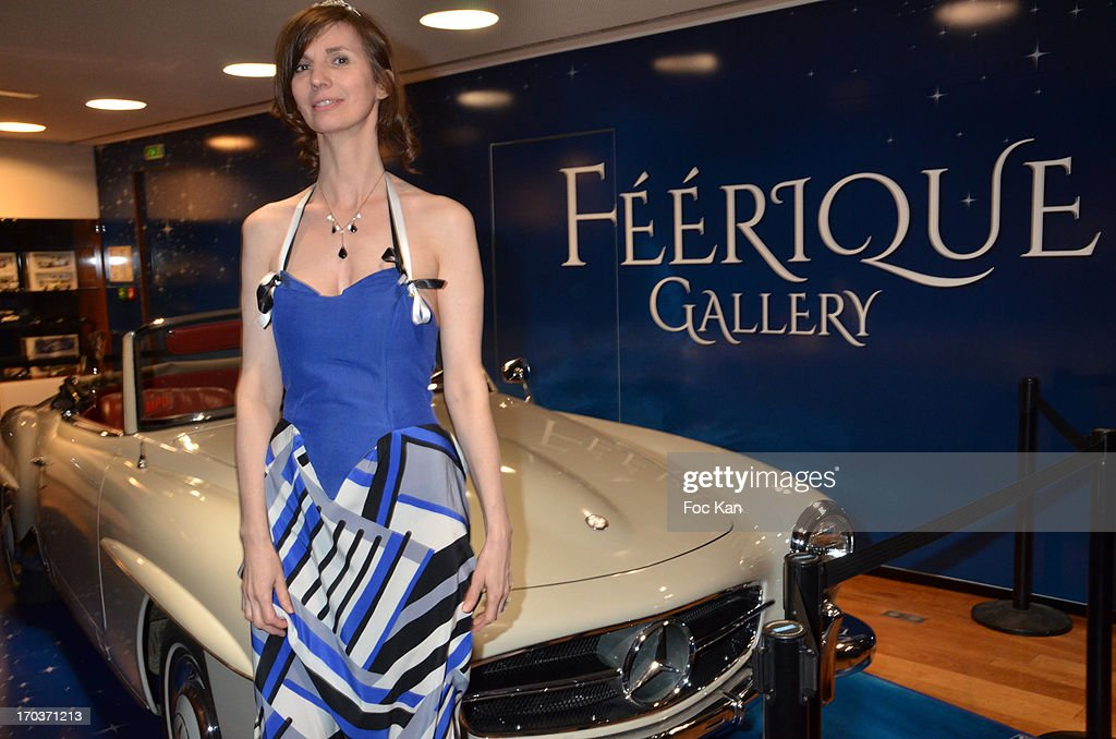 Zelia Van Den Bulke attend the 'Feerique Gallery' Zelia Van Den Bulke Esxhibition At Espace Mercedes Champs Elysees on June 11, 2013 in Paris, France.