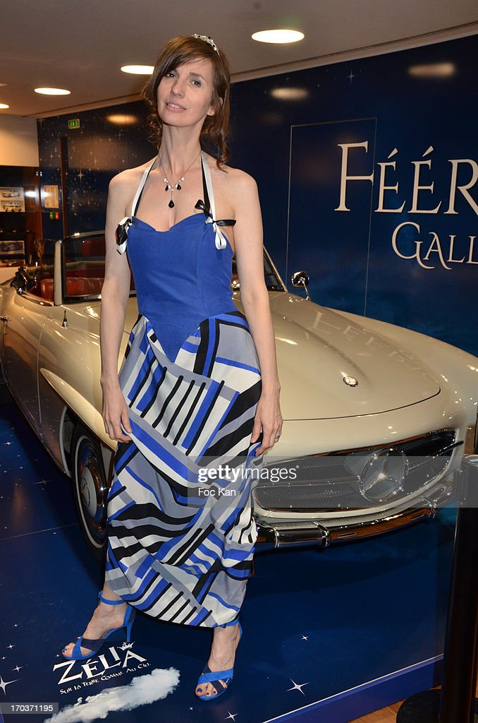 Zelia Van Den Bulke attends the 'Feerique Gallery' Zelia Van Den Bulke Exhibition At Espace Mercedes Champs Elysees on June 11, 2013 in Paris, France.