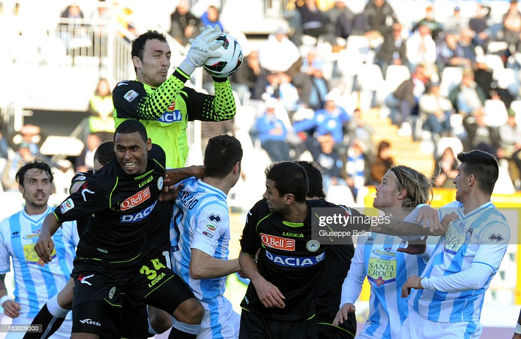 Zeljko Brkic of Udinese in action during the Serie A match between Pescara and Udinese Calcio at Adriatico Stadium on March 3, 2013 in Pescara, Italy.