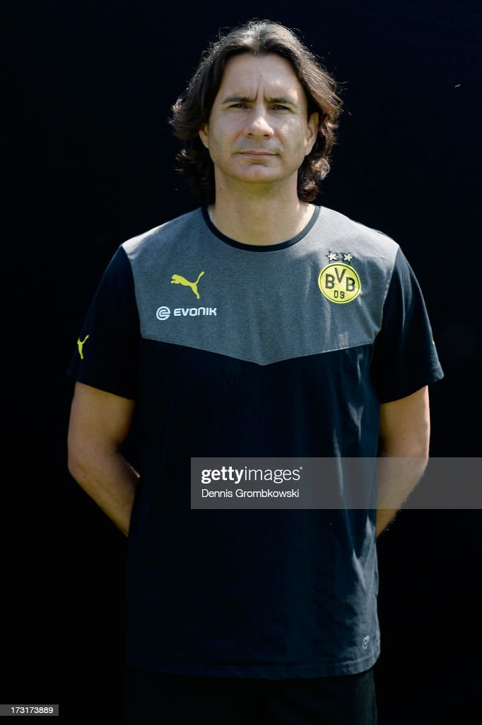 Zeljko Buvac poses during the Borussia Dortmund Team Presentation at Brackel Training Ground on July 9, 2013 in Dortmund, Germany.