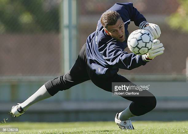 Zeljko Kalac of Australia in action during training for the World Cup Qualifier between Australia and Uruguay on November 9 2005 in Buenos Aires...