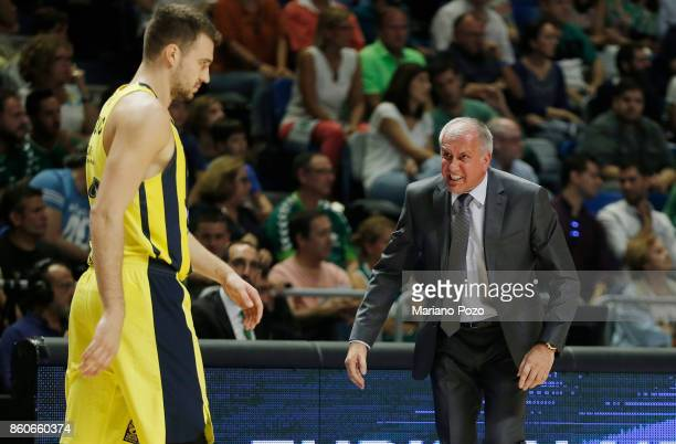 Zeljko Obradovic Head Coach of Fenerbahce Dogus Istanbul in action during the 2017/2018 Turkish Airlines EuroLeague Regular Season Round 1 game...