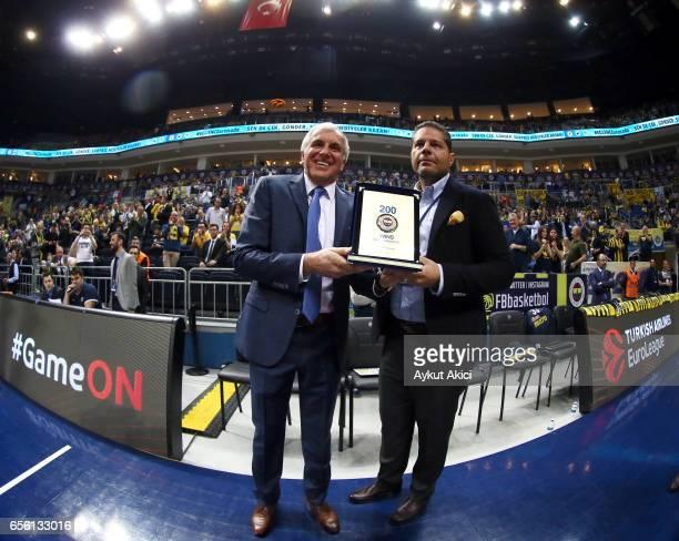 Zeljko Obradovic Head Coach of Fenerbahce Istanbul during the 2016/2017 Turkish Airlines EuroLeague Regular Season Round 27 game between Fenerbahce...