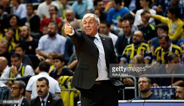 Zeljko Obradovic Head Coach of Fenerbahce Istanbul in action during the Turkish Airlines Euroleague Regular Season date 3 game between Fenerbahce...