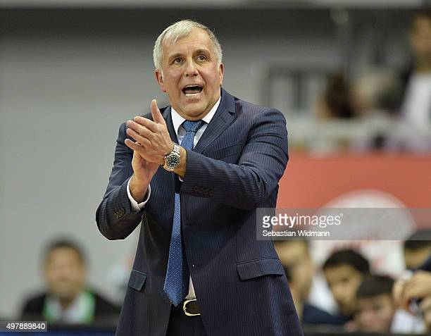 Zeljko Obradovic Head Coach of Fenerbahce Istanbul in action during the Turkish Airlines Euroleague Regular Season Round 6 game between FC Bayern...