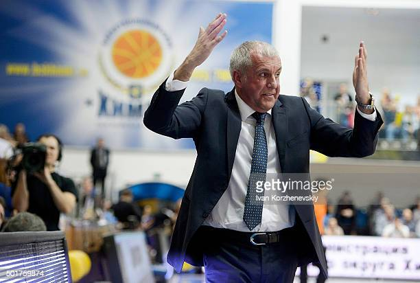 Zeljko Obradovic Head Coach of Fenerbahce Istanbul in action during the Turkish Airlines Euroleague Basketball Regular Season Round 10 game between...