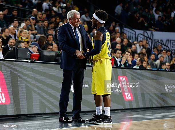 Zeljko Obradovic Head Coach of Fenerbahce Istanbul in action during the Turkish Airlines Euroleague Basketball Top 16 Round 4 game between...