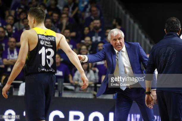 Zeljko Obradovic Head Coach of Fenerbahce Istanbul in action during the 2016/2017 Turkish Airlines EuroLeague Regular Season Round 29 game between...