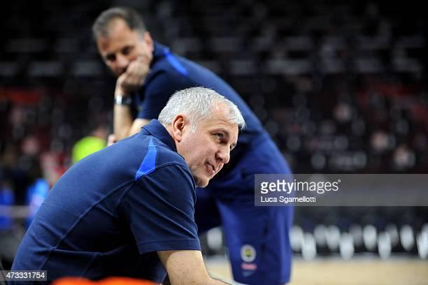 Zeljko Obradovic Head Coach of Fenerbahce Ulker Istanbul during the Fenerbahce Ulker Istanbul Practice of Turkish Airlines Euroleague Final Four...