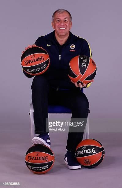 Zeljko Obradovic Head Coach of Fenerbahce Ulker Istanbul poses during the Fenerbahce Ulker Istanbul 2014/2015 Turkish Airlines Euroleague Basketball...