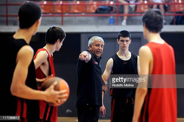 Zeljko Obradovic Head Coach of Panathinaikos teaching during the Euroleague Mastermind Coaching at Parc Esportiu Baix Llobregat on June 25 2011 in...