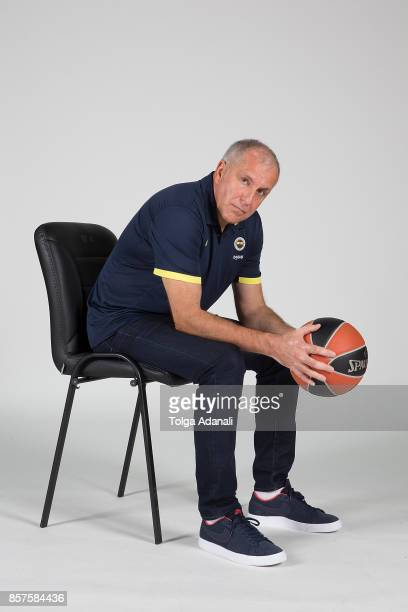 Zeljko Obradovic Head Coach poses during Fenerbahce Dogus Istanbul 2017/2018 Turkish Airlines EuroLeague Media Day at Ulker Sports Arena on October 2...