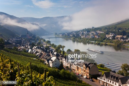 zell mosel river valley germany stock photo getty images. Black Bedroom Furniture Sets. Home Design Ideas