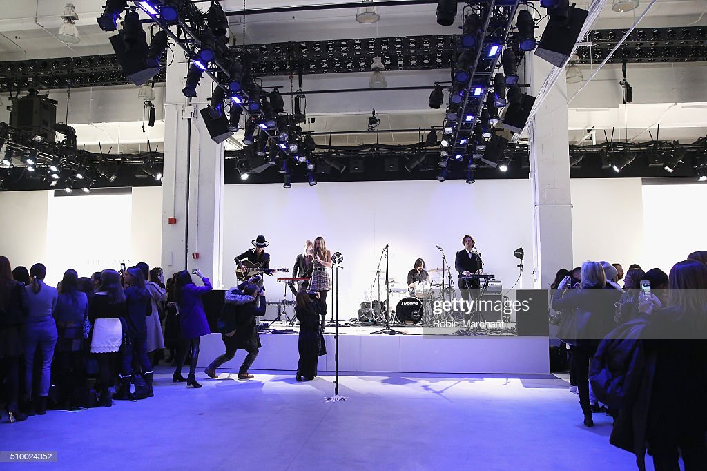 Zella Day performs at the Rebecca Minkoff - Front Row at The Gallery, Skylight at Clarkson Sq on February 13, 2016 in New York City.