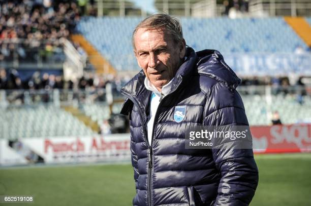 Zeman Zdenek during the Italian Serie A football match Pescara vs Udinese on March 15 in Pescara Italy