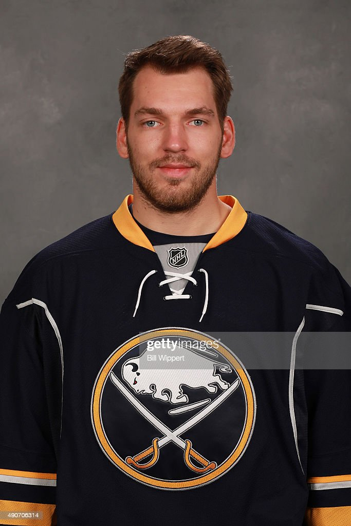 <a gi-track='captionPersonalityLinkClicked' href=/galleries/search?phrase=Zemgus+Girgensons&family=editorial&specificpeople=8050732 ng-click='$event.stopPropagation()'>Zemgus Girgensons</a> of the Buffalo Sabres poses for his official headshot for the 2015-2016 season on September 17, 2015 at the First Niagara Center in Buffalo, New York.