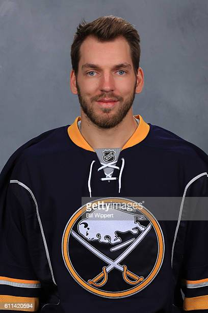 Zemgus Girgensons of the Buffalo Sabres poses for his official headshot of the 20162017 season on September 22 2016 at the KeyBank Center in Buffalo...