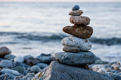 Zen Balancing Pebbles, Harmony and Balance
