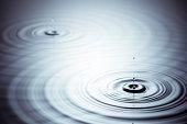 Zen Drop -  Water Wave Abstract Bizarre Background Wallpaper