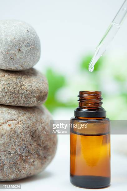 Zen rocks and essential oil