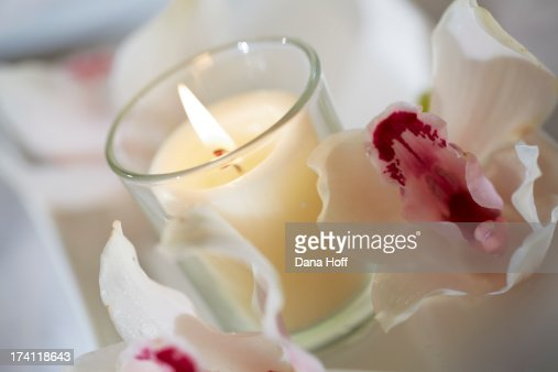 Zen spa candles in calm tranquil settings stock photo for A zen salon colorado springs