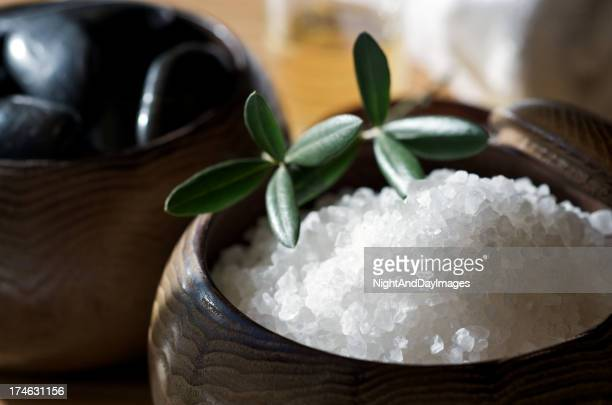 Zen Spa Scrubbing Salts for Skin Care with Stones