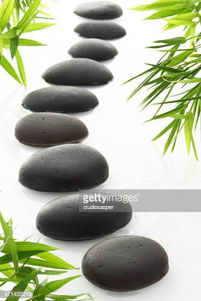 禅/スパ石と竹芝