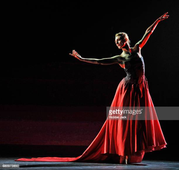 Zenaida Yanowsky in the Royal Ballet's production of Liam Scarlett's Symphonic Dances at The Royal Opera House on May 18 2017 in London England