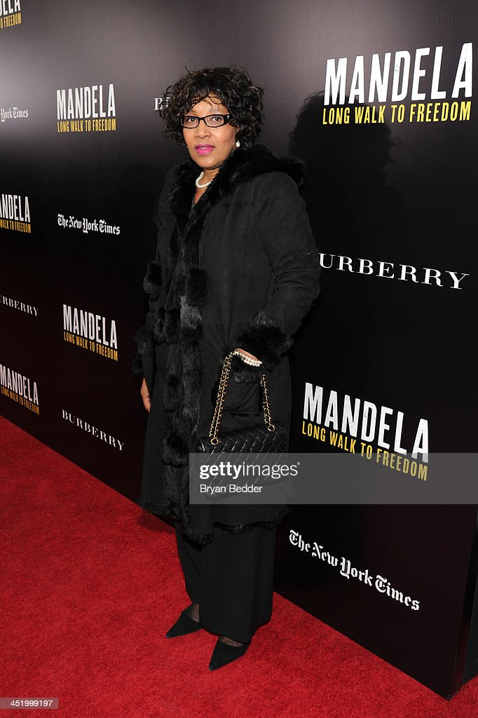 Zenani Mandela attends U2 And Anna Wintour Host A Special Screening Of Mandela: Long Walk To Freedom, In Partnership With Burberry And The New York Times at Ziegfeld Theatre on November 25, 2013 in New York City.