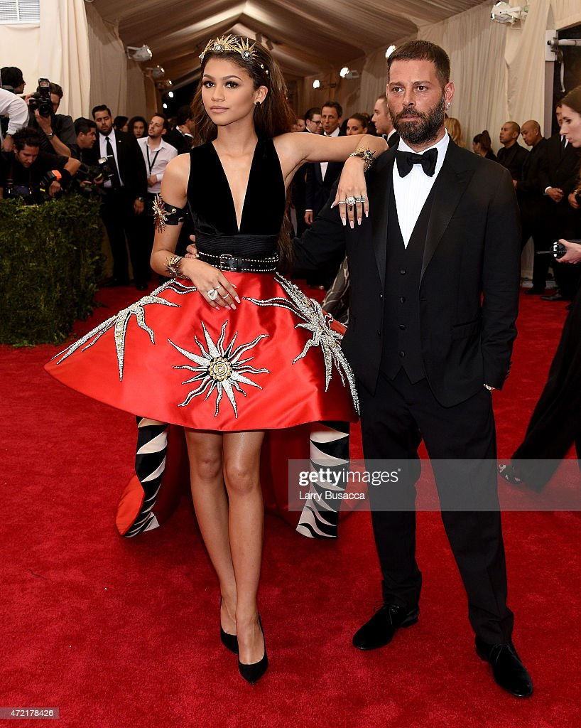 Zendaya and Fausto Puglisi attend the 'China: Through The Looking Glass' Costume Institute Benefit Gala at the Metropolitan Museum of Art on May 4, 2015 in New York City.