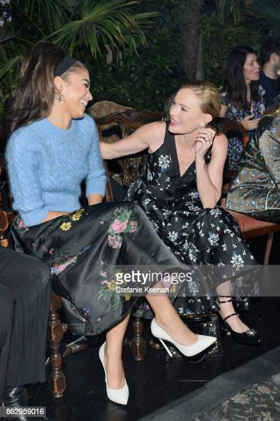 Zendaya and Kate Bosworth at HM x ERDEM Runway Show Party at The Ebell Club of Los Angeles on October 18 2017 in Los Angeles California