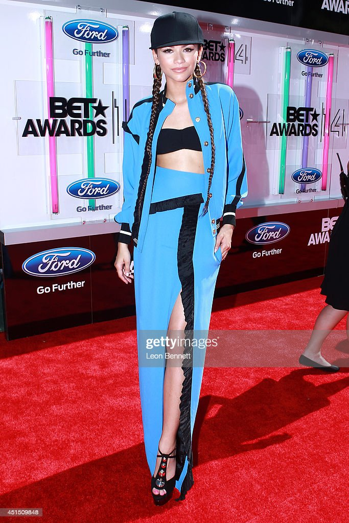 Zendaya arrived at the BET & Make A Wish Foundation Recipient Wish To Attend BET Awards Red Carpet Arrivals on June 29, 2014 in Los Angeles, California.