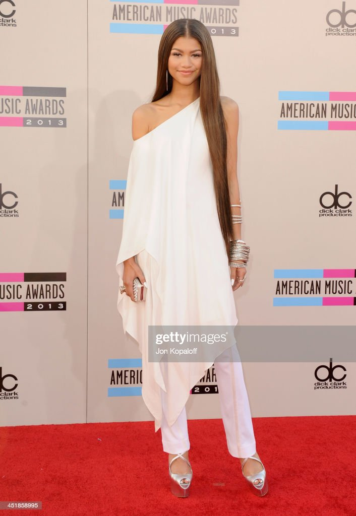 Zendaya arrives at the 2013 American Music Awards at Nokia Theatre L.A. Live on November 24, 2013 in Los Angeles, California.