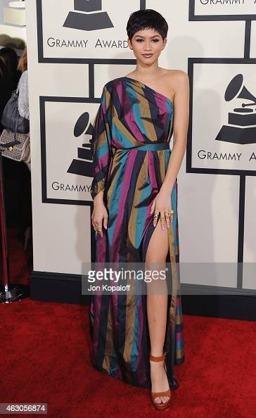 Zendaya arrives at the 57th GRAMMY Awards at Staples Center on February 8 2015 in Los Angeles California