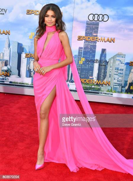 Zendaya arrives at the Premiere Of Columbia Pictures' 'SpiderMan Homecoming' at TCL Chinese Theatre on June 28 2017 in Hollywood California