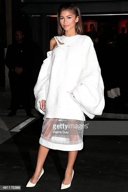 Zendaya arrives at Vogue 95th Anniversary Party as part of the Paris Fashion Week Womenswear Spring/Summer 2016 on October 3 2015 in Paris France