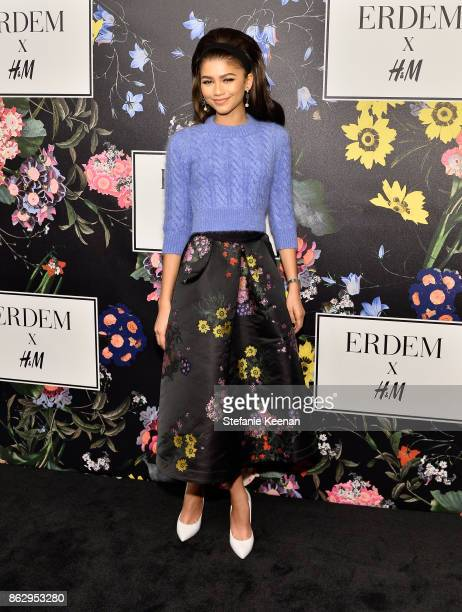 Zendaya at HM x ERDEM Runway Show Party at The Ebell Club of Los Angeles on October 18 2017 in Los Angeles California