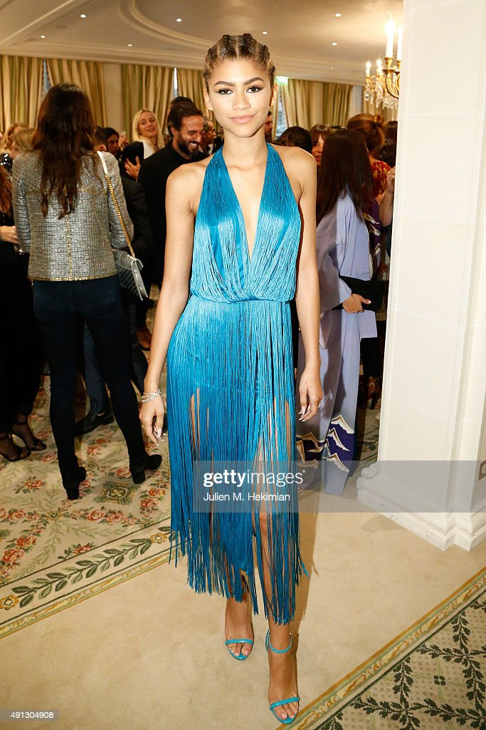 Zendaya attends Buro 24/7 Family Presentation of 9 Fashion Designers from Russia Ukraine and Kazakhstan at Hotel Bristol on October 4 2015 in Paris...
