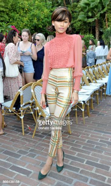 Zendaya attends CFDA/Vogue Fashion Fund Show and Tea at Chateau Marmont at Chateau Marmont on October 25 2017 in Los Angeles California
