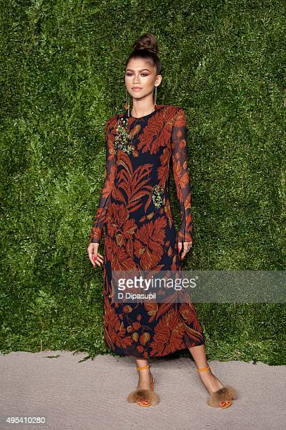Zendaya attends the 12th annual CFDA/Vogue Fashion Fund Awards at Spring Studios on November 2 2015 in New York City