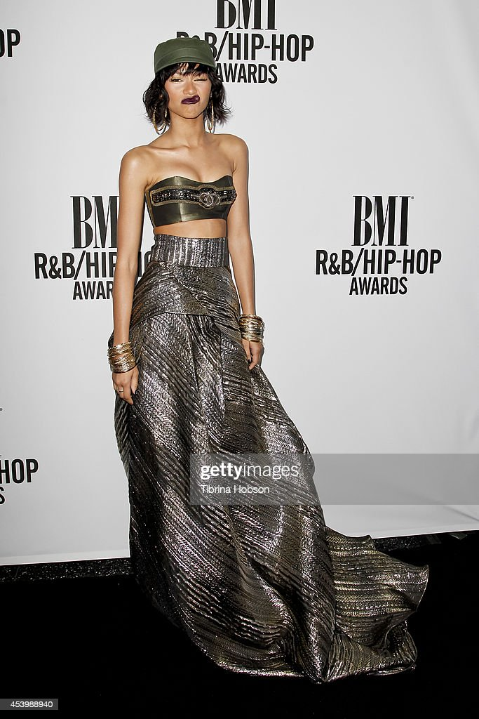 Zendaya attends the 2014 BMI R&B/Hip-Hop awards at the Pantages Theatre on August 22, 2014 in Hollywood, California.