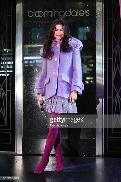 Zendaya attends the 2017 Bloomingdale's Holiday Windows Unveiling at Bloomingdale's on November 21 2017 in New York City